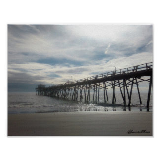 The Pier Atlantic Beach NC Poster