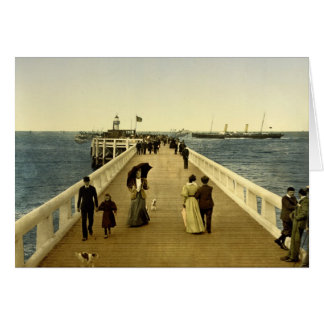 The pier Ostend Belgium Card