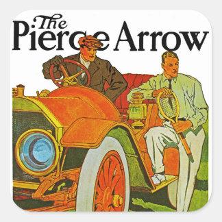 The Pierce Arrow Square Sticker