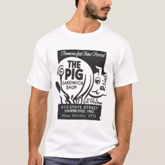 The Pig Sandwich Shop Vintage Ad T-Shirt