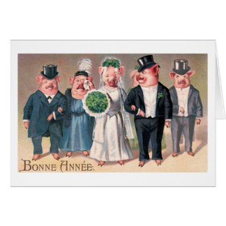 """The Pig's Wedding"" Vintage Card"