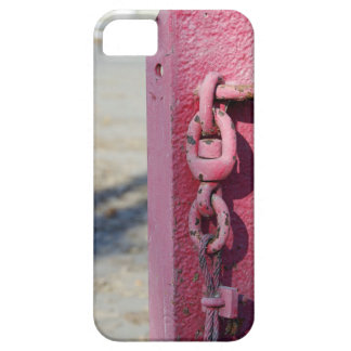 The pillar in the parking lot for blocking case for the iPhone 5