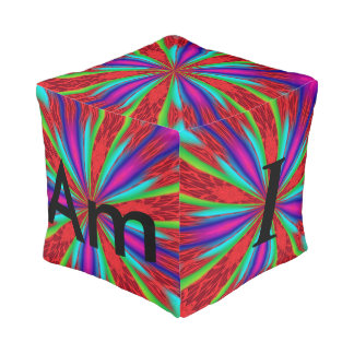 The Pillow that ask a serious question Cube Pouf