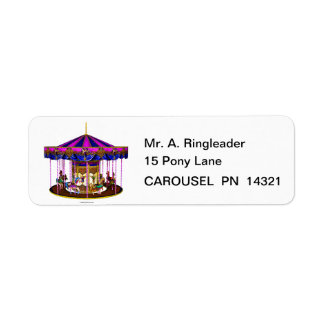 The Pink Carousel Return Address Labels