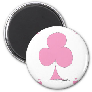 the pink club 2 inch round magnet