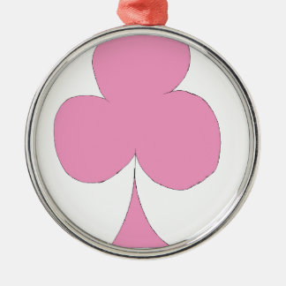the pink club Silver-Colored round ornament