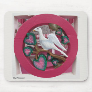 The Pink Cottage on Martha's Vineyard Porch Detail Mouse Pad