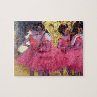 The Pink Dancers, Before the Ballet by Edgar Degas Jigsaw Puzzle