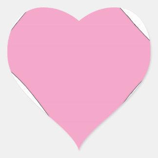 the pink diamond heart sticker