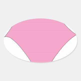 the pink diamond oval sticker