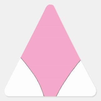 the pink diamond triangle sticker