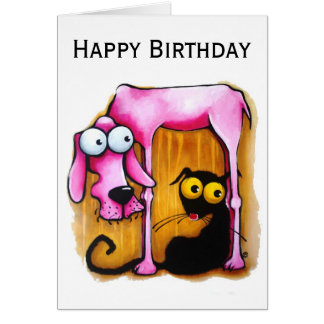 The Pink Dog Greeting Card