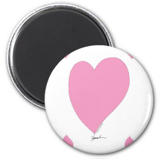 the pink hearts 2 inch round magnet
