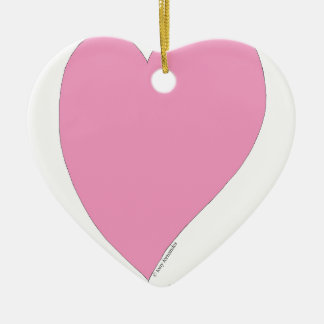 the pink hearts ceramic heart ornament