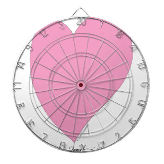 the pink hearts dartboard