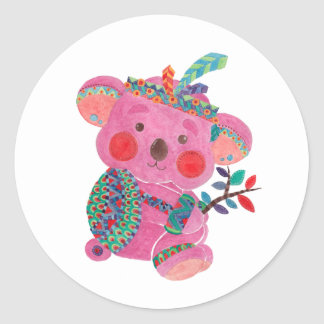 The Pink Koala Classic Round Sticker