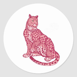 The Pink Panthers Round Sticker