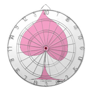 the pink spade dartboard
