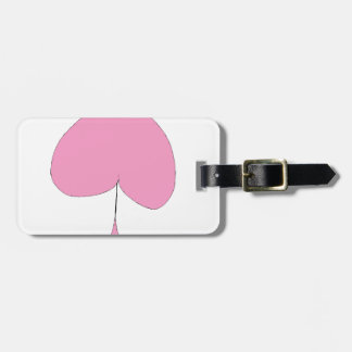the pink spade luggage tag
