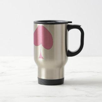 the pink spade travel mug