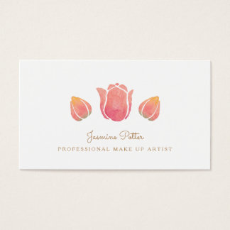 The Pink Tulip Make Up Artist Business Card