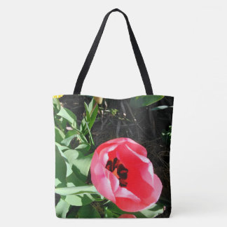 The Pink Tulip Tote Bag