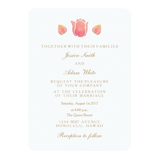The Pink Tulip Wedding Invitation