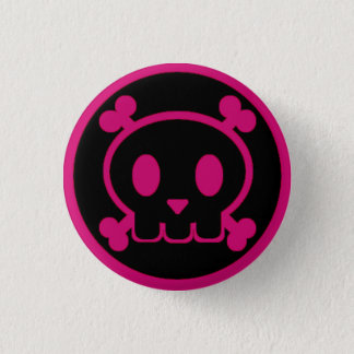 The Pink Twin of Skullbert 1 Inch Round Button