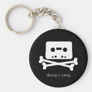 The Pirate Bay Cassette Tape Keychain