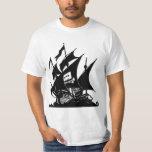 The Pirate Bay Logo Ship T-Shirt