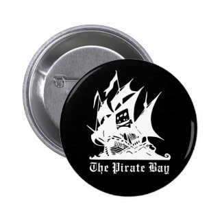 the pirate bay pirate ship logo 2 inch round button