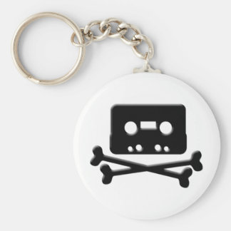 The Pirate Bay Tape Basic Round Button Keychain