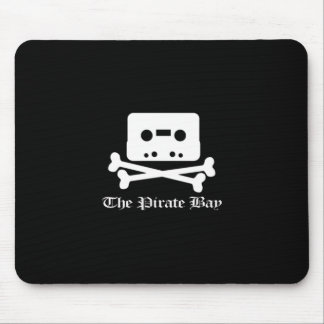 The Pirate Bay White Crossbone Logo Mouse Pad