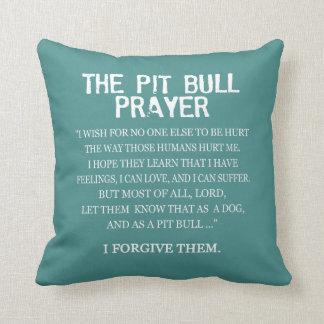 The Pit Bull Prayer Throw Pillow