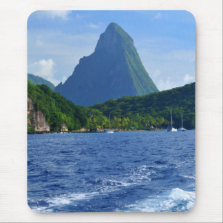 The Pitons in Saint Lucia Mouse Pad