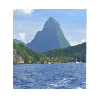 The Pitons in Saint Lucia Notepad