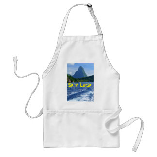 The Pitons in Saint Lucia Standard Apron