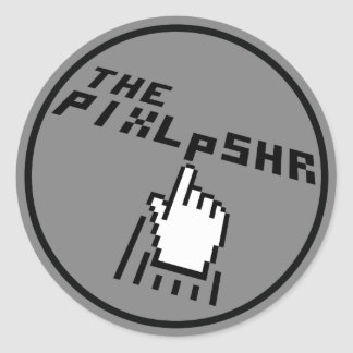 The PixlPshr Logo Classic Round Sticker