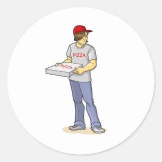 The Pizza Man Classic Round Sticker