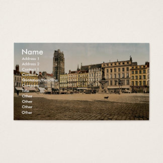 The Place Jean Bart, Dunkirk, France classic Photo Business Card