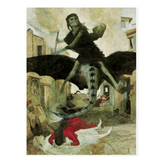 The Plague, Arnold Bocklin, 1898 Postcard