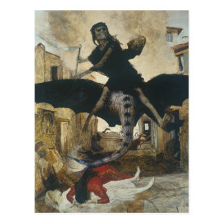 The Plague by Arnold Böcklin Postcard