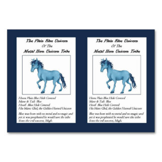 The Plain Blue Unicorn Trading Card- Card