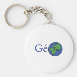 the planet ground - geography keychain