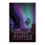The Planet Jupiter Space Travel Illustration Poster
