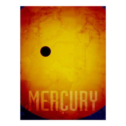 The Planet Mercury Poster