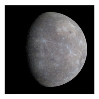 The Planet Mercury taken by the probe Messenger Poster