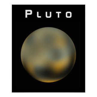 The Planet Pluto Poster