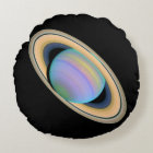 The Planet Saturn Round Pillow