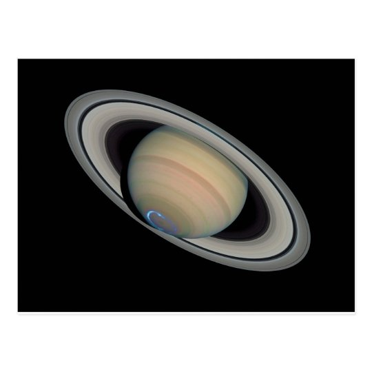 The Planet Saturn with Southern Hemisphere Auroras Postcard